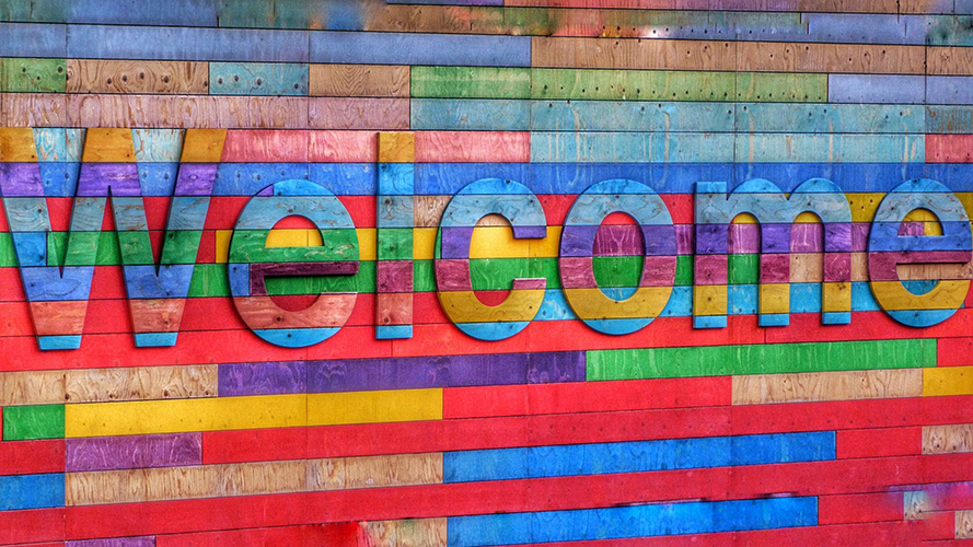 Image that says Welcome
